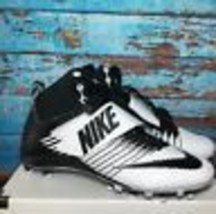 Nike Men's Football Cleats Size 14 Black White Lunarbeast Pro Td New Shoes - $59.39