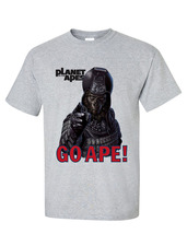 Planet of the Apes Go Ape!  T-shirt retro sci fi original film gray heather tee  image 1