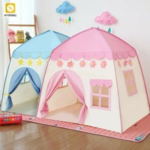 Kids Tent Folding Baby Play House Large Room Flowers Blossoming Indoor O... - $61.48