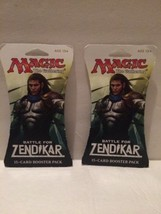 Lot Of 2 New! Magic: the Gathering - MTG: Battle for Zendikar 15 Card Bo... - $14.63