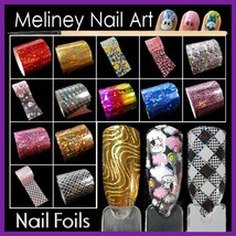 Pick 1/5/20 Pack Nail Art Transfer Foils Holographic Transparent Foil st... - $3.44+