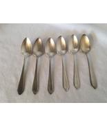6 National Silver NS Co Silverplate Tea Spoons Spoon teaspoons Teaspoon ... - $32.44