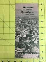 Vintage Brochure Answers to All Your Questions about Tucson Arizona Chamber - $19.55