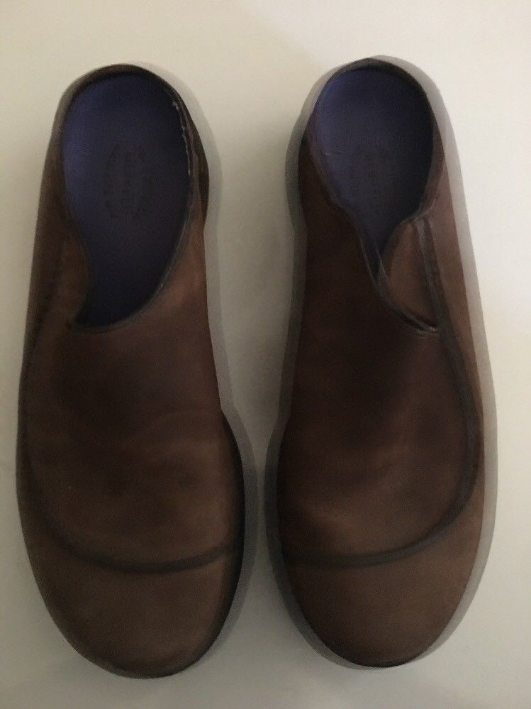 Mens MERRELL Brown Topo Wave Slide Suede Slip on Mocs Clogs Shoes sz 11 M