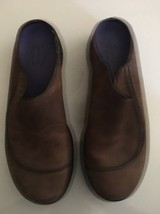 Mens MERRELL Brown Topo Wave Slide Suede Slip on Mocs Clogs Shoes sz 11 M image 1