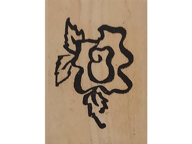 Denamid Design 1994 Stylized Flower Wood Mounted Rubber Stamp