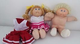 Vintage Blond Cabbage Patch Dolls Lot Of 2 1978/1982 Appalachian Artwork... - $36.50