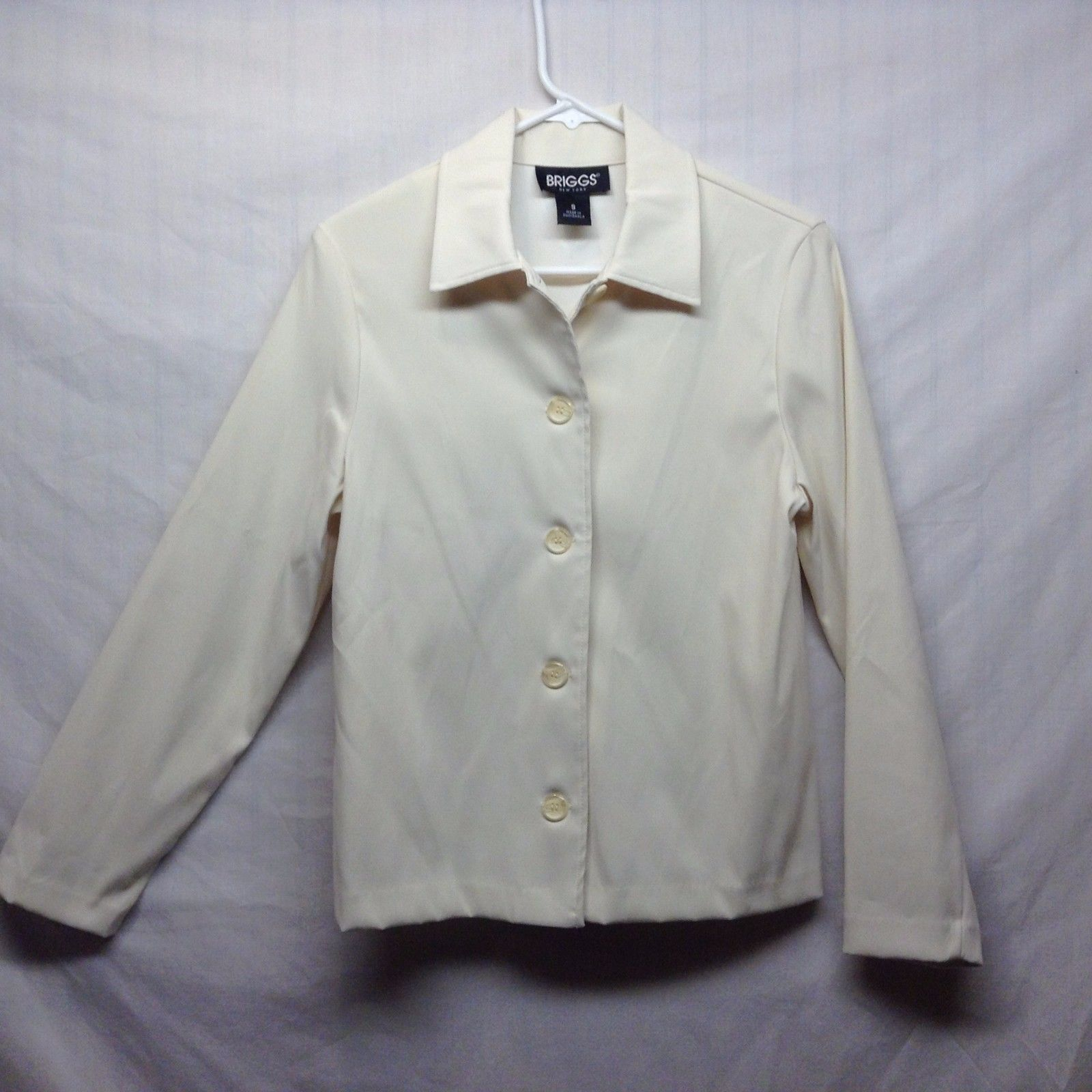 BRIGGS New York Off White Blazer Size Small