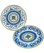 2 Piece Blue Grotto Platter Set Home Dining Kitchen Tabletop Bar Dinnerware NEW - $57.59