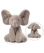Gund Baby Animated Flappy The Musical Elephant Peek A Boo Plush Toy for Kids NEW - $31.99