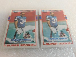THURMAN THOMAS SUPER ROOKIE CARD LOT OF 2 - $9.95