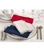 Fennco Styles Melina Collection Ruffled Design Dinner Napkin - 3 Colors - $32.99
