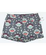 CELEBRITY PINK JEANS DENIM SHORTS AZTEC PRINT WOMENS SIZE 8 GRAY NEW  NWT - $16.82