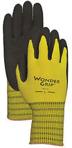 Work Gloves, Double-Coated Latex Palm, Yellow Nylon, Small - $15.83