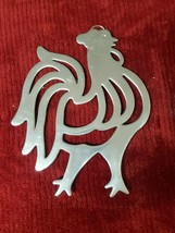 """9"""" X 6""""  CHROME ROOSTER WALL DECOR - $5.99"""