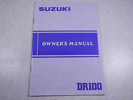 84 Suzuki DR100 Oem Nos Original Driver's Owner's Manuell 1984 Dr 100 - $75.09