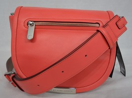 NWT! MARC By Marc Jacobs Luna Leather Crossbody Bag in Rose Bush. Coral ... - $199.00