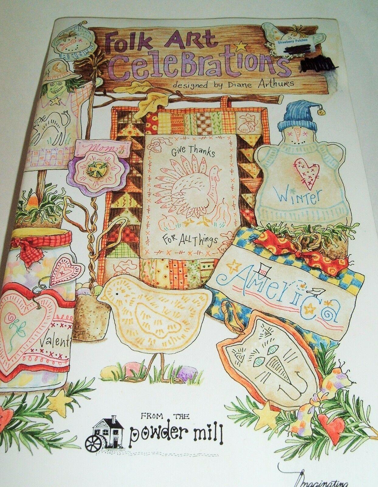 FOLK ART Celebrations Booklet 2001 - DIANE ARTHURS - IMAGINATING-Powder Mill - $10.86