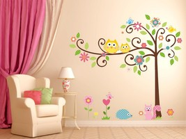 Nursery Tree decal animals kid 3D Window Decal WALL STICKER Home Decor A... - $6.92+