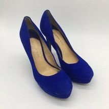 Gianna Bini Blue Suede High Heel, Size 6.0 - $18.81