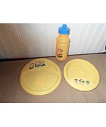 New 3 Pc Hard Plastic Set Minions Despicable Me Yellow Plate Bowl Water ... - $7.78