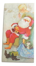 Vintage Hallmark Santa Claus Christmas Greeting Card Child Mr. Claus Sle... - $6.95