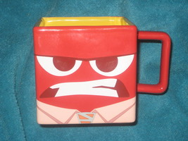 Disney Store ANGER Inside Out Exclusive Red Ceramic Coffee Cup Brand New. - $37.39