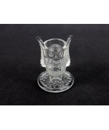 Westmoreland Owl Art Glass Toothpick Holder ,RARE CLEAR figurine - Foil ... - $23.47