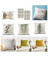 Cushion Bedding Decorative Pillowcase Pillow Patchwork Plaid Sea Leaf Pl... - $9.00