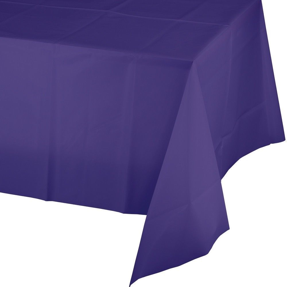 Purple Plastic Tablecover 54 x 108 Tablecloth