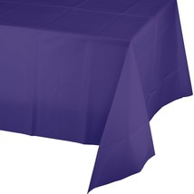 Purple Plastic Tablecover 54 x 108 Tablecloth - $2.84