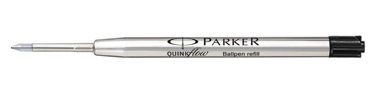 10 x Parker Quink Flow Ball Point Pen Refills BallPen Black Medium New Sealed