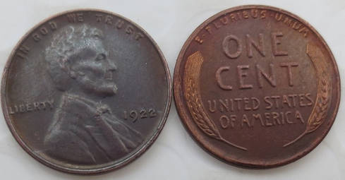 1922 NO D Lincoln Wheat Cent Penny - Replica - FREE SHIPPING - $14.99