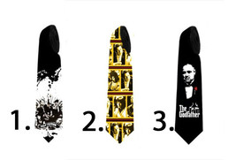 Necktie with Godfather pulp fiction gangster print - $30.00