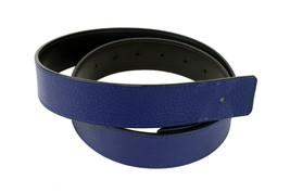 """Auth Louis Vuitton Paris Blue Leather Waist Belt Size 85 CM 34"""" Spain Us... - $197.01"""