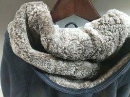 Walter Davoucci Women  Lambskin Leather Shearling Jacket Sz Medium Coat image 7