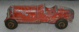 Vintage Hubley Toy Indy Race Car Cast Metal Kiddie Toy wo / Driver - $56.09