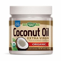 Nature's Way USDA Organic Extra Virgin Coconut Oil- Pure, Cold-Pressed, - $17.88