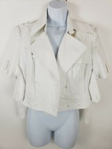 Cachet Women's Cropped Buttonless White Jacket Size M - $39.59