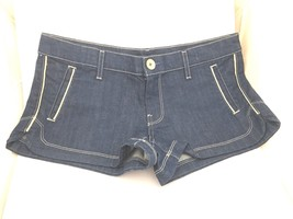 7 For All Mankind Shorts Denim Medium Dark Blue Cotton Jeans Women 30 32 10 - $33.40