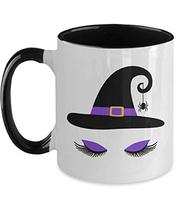 Halloween Witch Spider Mug for Teen Daughter from Mom Black White Cerami... - $15.79