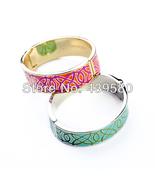 Big Discount Wholesale Green & Pink Bracelets & Bangles Enamel Open - $31.98