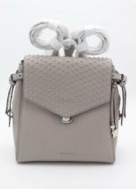 NWT MICHAEL Michael Kors Bristol Gray Leather Studded Medium Backpack Ba... - $228.00
