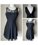 NWT Express Women's Cocktail Dress Black Lace Top Sleeveless Mini Empire... - $25.16