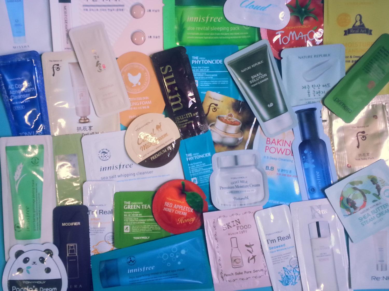 Mixed Korean Skincare Samples Bag