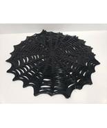 Benson Mills Halloween Black Vinyl Spiderweb Placemats Decor Set of 4 - £18.27 GBP