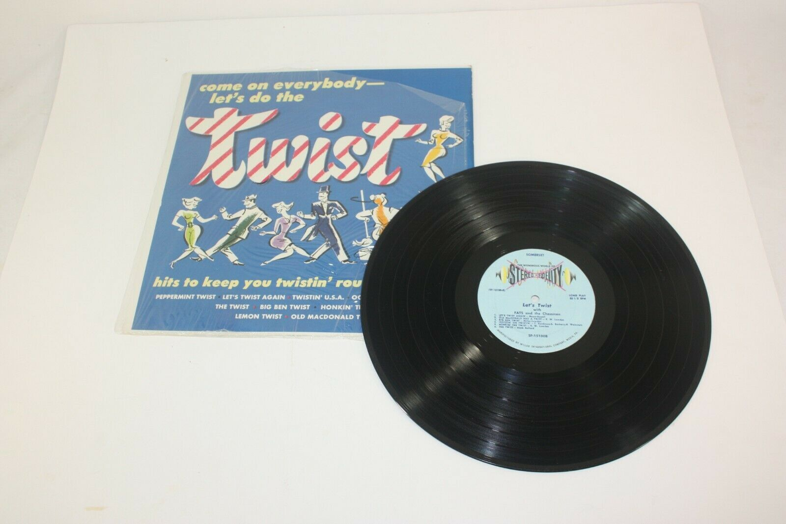 Come On Everybody Let's Do The Twist LP Vintage Dance Record Somerset SF-15100