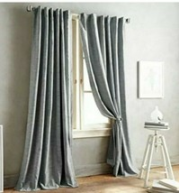 """DNKY Front Row Curtain Panel Charcoal Gray 84"""" Back Tab 1 Panel - $23.97"""