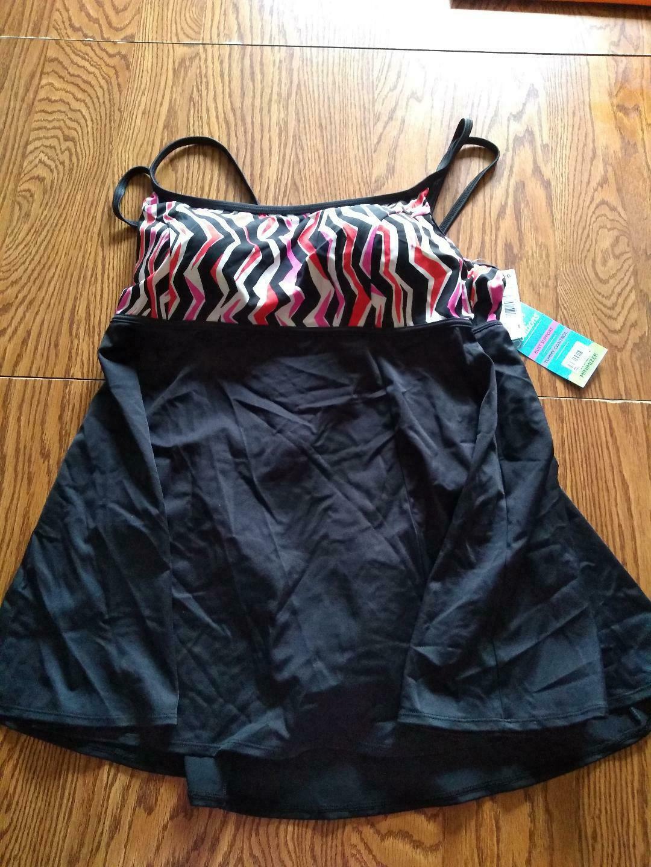 Swim Solutions Empire Princess Seam Swim Dress Size 20W