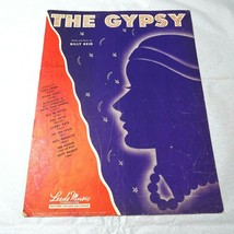 Vintage 1946 The Gypsy Billy Reid Piano Leeds Music Sheet Music  - $4.94